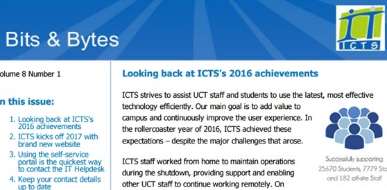 ICTS Bits & Bytes newsletter